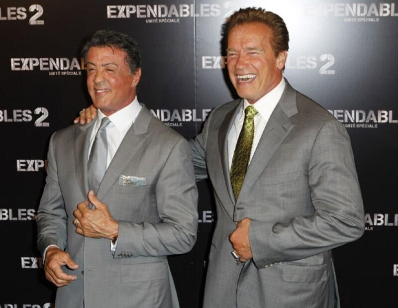El actor estadounidense se presentó en la premier de la película 'Los indestructibles 2&#39, la cual protagoniza.