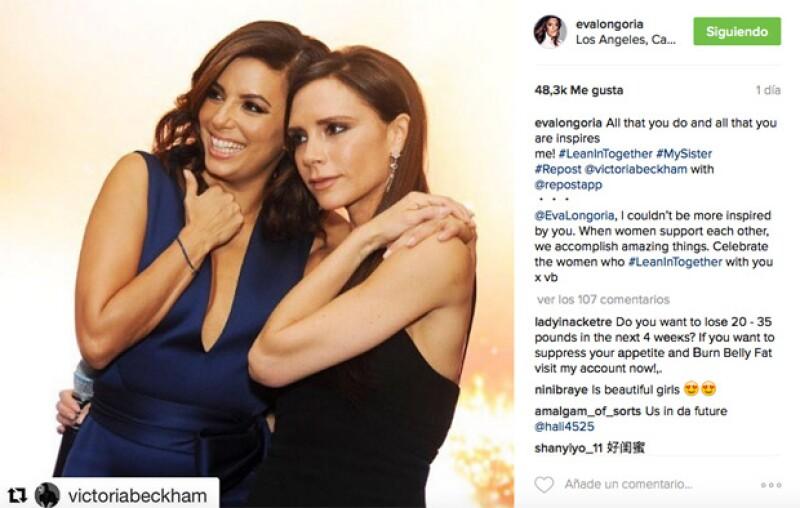 La diseñadora y la actriz intercambiaron elogios en sus redes sociales para hablar sobre el positivo ejemplo que la una transmite a la otra.