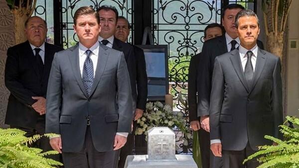 El presidente arribó a Nuevo León para encabezar el funeral privado del empresario regiomontano y presidente del grupo Cemex.