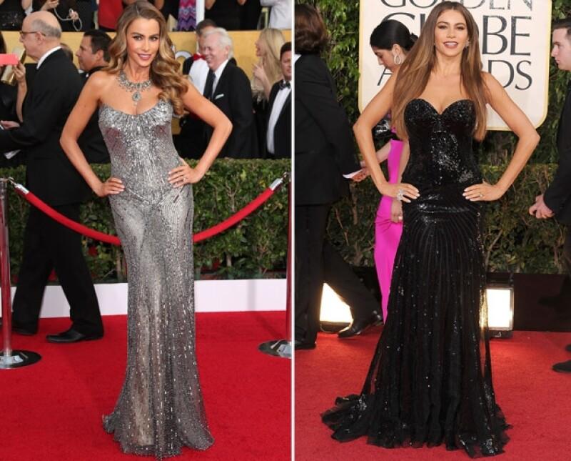 Expertos en moda opinan que usa siempre el mismo tipo de prendas en las red carpets. No obstante, su diseñador la defendió, diciendo que no tiene nada de malo vestir con lo que le va mejor.