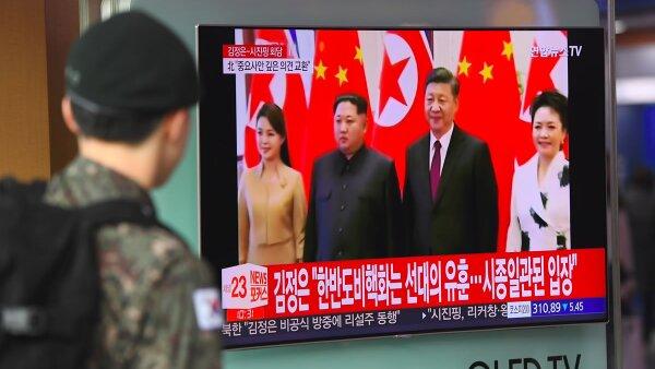 Kim Jong Un visita china