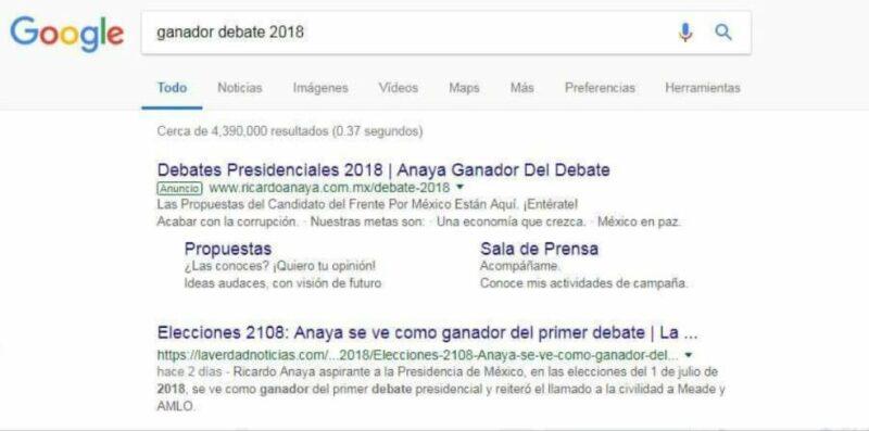 ¿Gana cuatro días antes del debate?