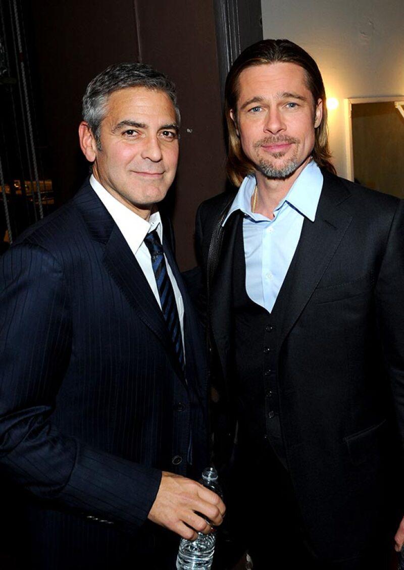 El actor invitó a Brad Pitt y a su familia a la casa que posee en Beverly Hills.