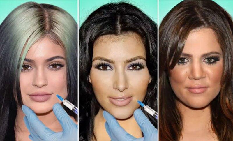 Todos sabemos que las hermanas Kardashian-Jenner se han hecho uno que otro cambio en la cara, y este video muestra cada uno de ellos en cuestión de segundos.