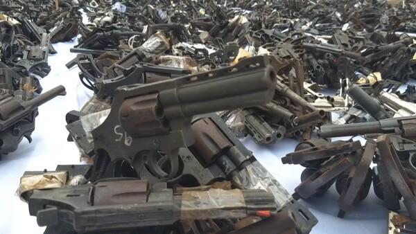 ¿Fundir armas cuenta como lucha a la inseguridad? Para Perú sí y así ocurrió