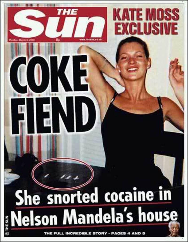 El diario The Sun dejó al descubierto la adicción de Kate Moss.