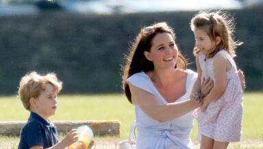 Kate Middleton, George y Charlotte