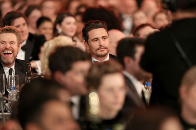 James Franco mantuvo un perfil bajo durante los SAG Awards