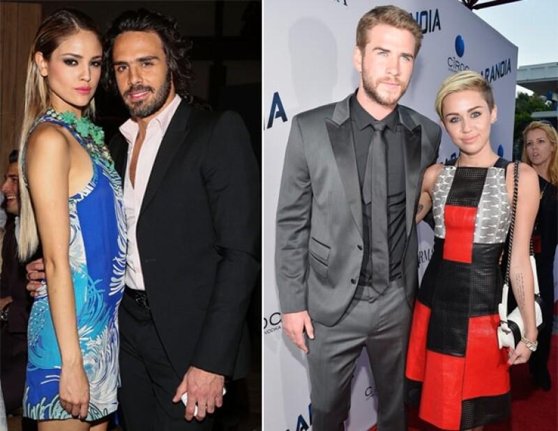 Eiza con Pepe Díaz y Miley con Liam mientras mantenían sus respectivos noviazgos.