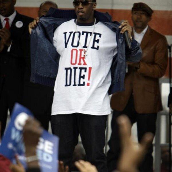 """Sean """"Diddy"""" Combs y otros famosos hicieron campaña a favor de Obama al sur de Florida. El senador demócrata tuvo a lo largo de todo este proceso un fuerte apoyo de las celebridades. En ese rubro arrasó a McCain."""