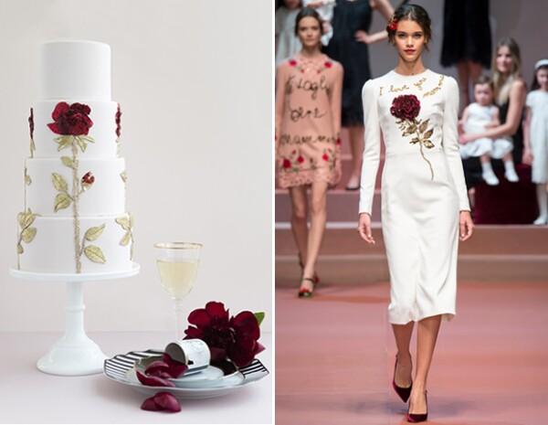 La más reciente colección de The Caketress fue inspirada en las pasarelas de 2015, como esta de Dolce & Gabbana para otoño.