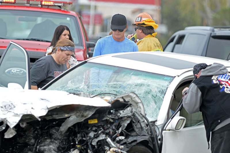 La estrella televisiva ha enviado sus condolencias a los familiares de la víctima del accidente de coche en que se vio envuelto este fin de semana.