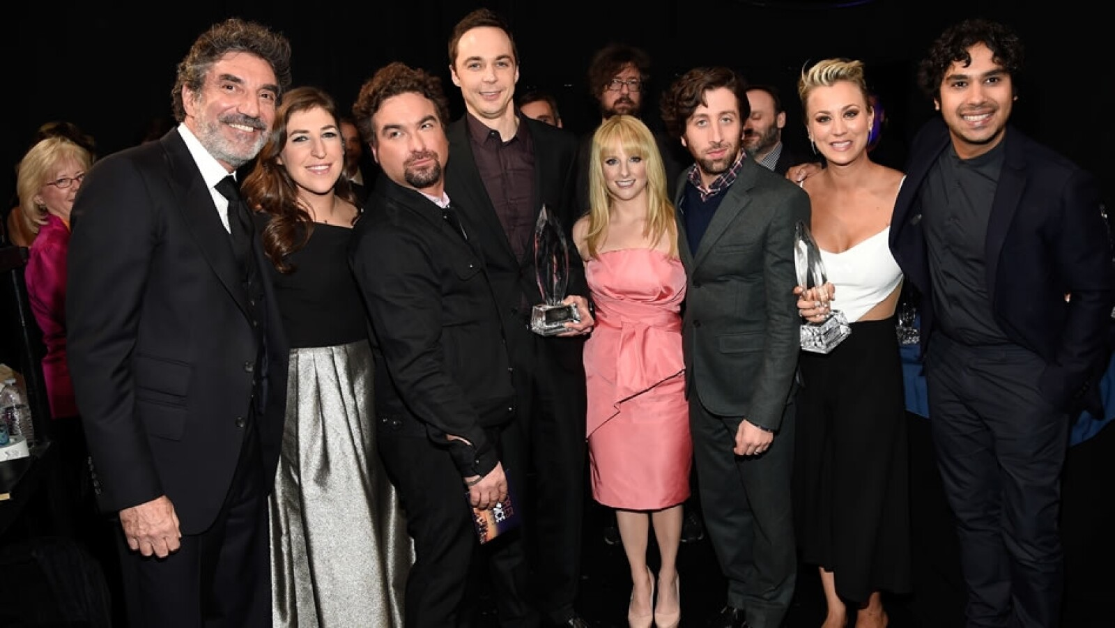 El elenco y productor de la serie favorita de televisión 'The Big Bang Theory'