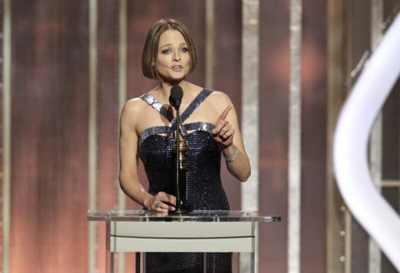 La actriz declaró muy a su manera ser homosexual durante su discurso de aceptación en los Golden Globes 2013.