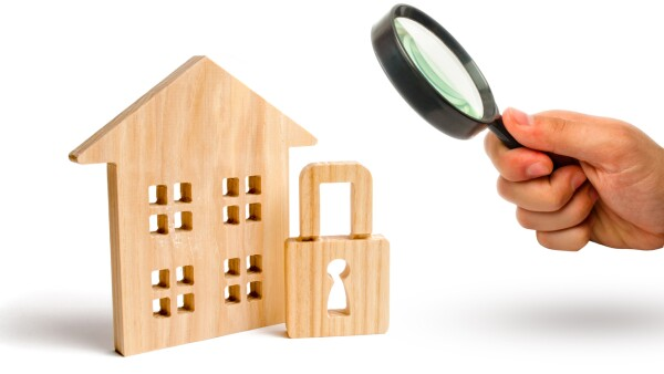 Casa - vigilancia - lupa