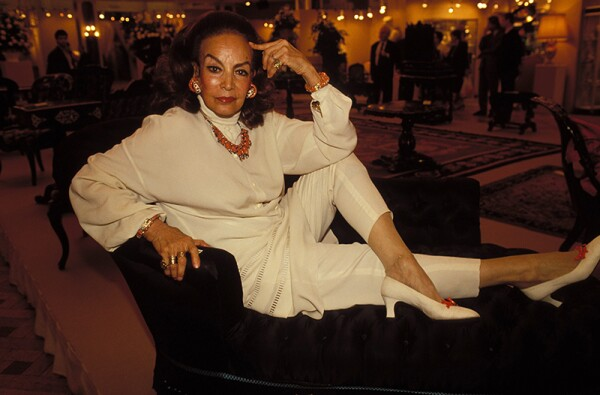 Maria Felix Sells Her Furniture On Her Collection To Napoleon Iii In Paris, France On June 05, 1990.