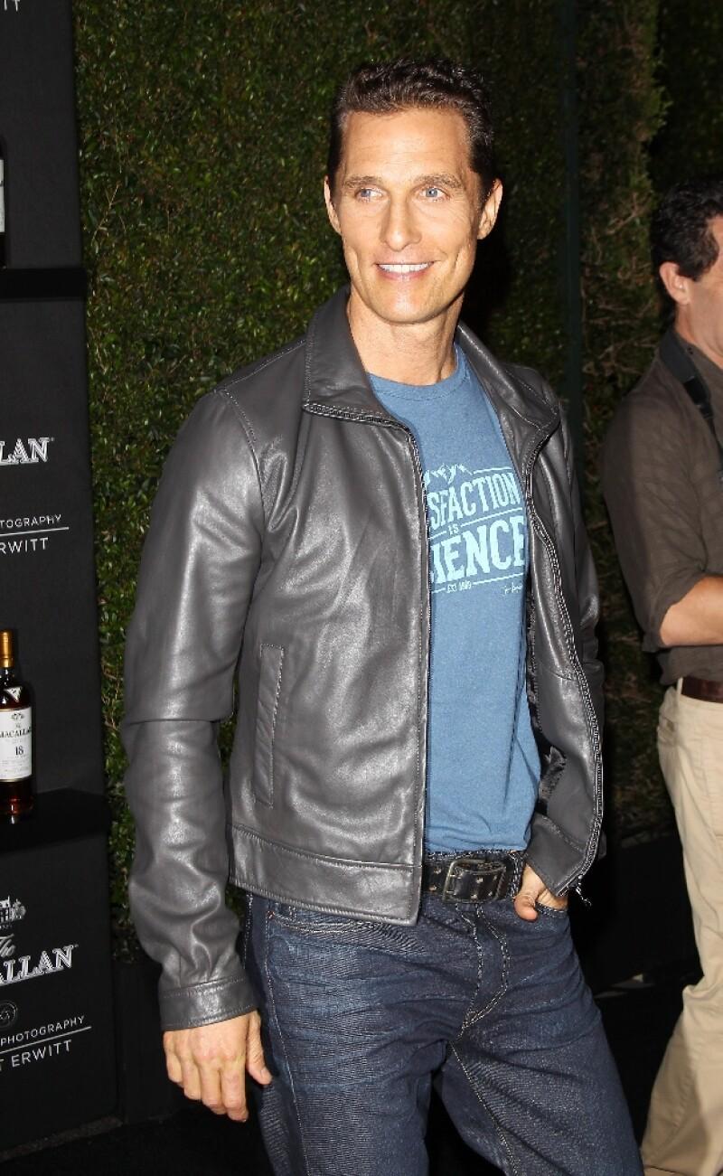 Matthew McConaughey es amigable hasta la muerte.