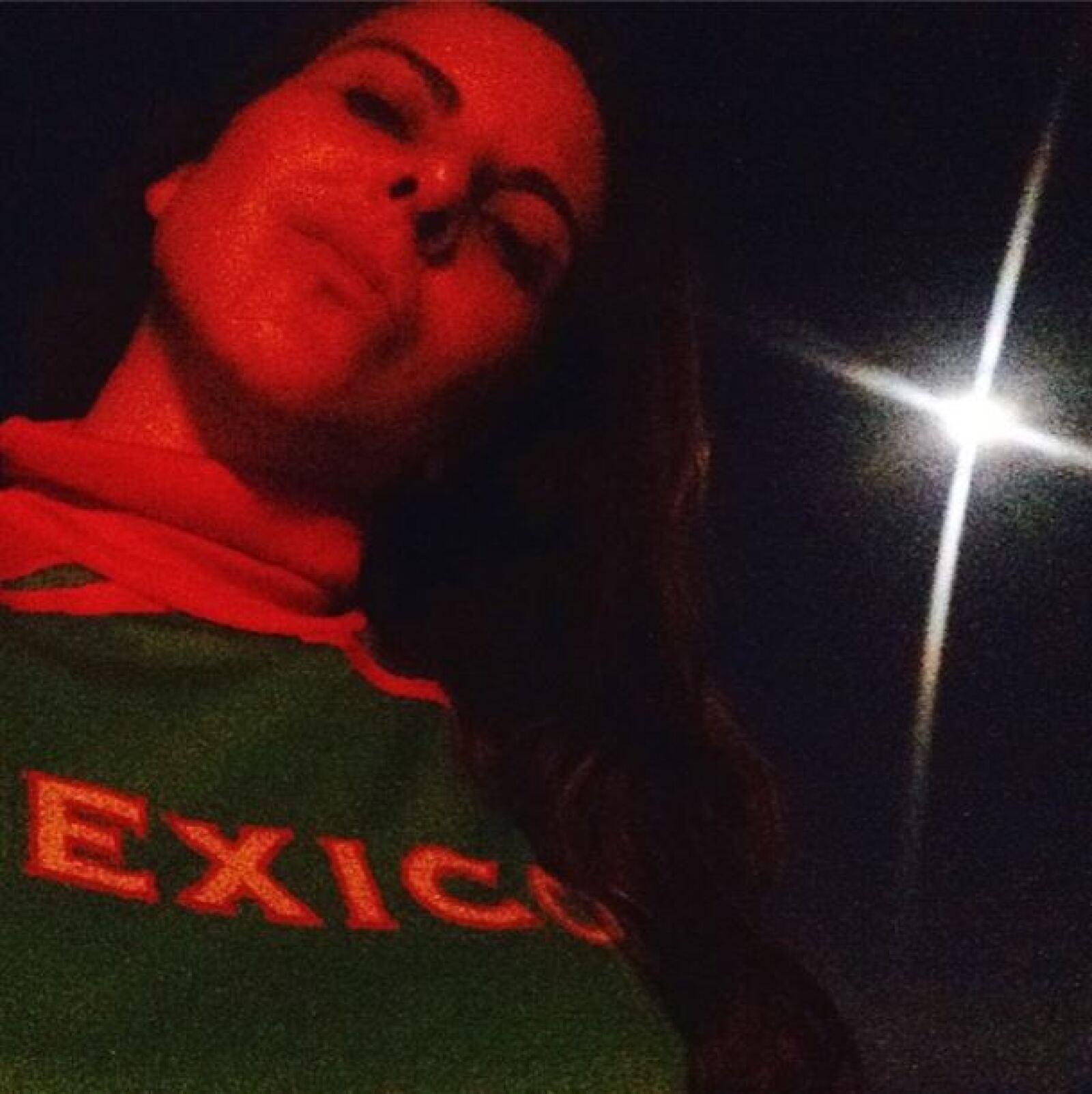 Kate del Castillo compartió su emoción por el partido desde una noche antes.