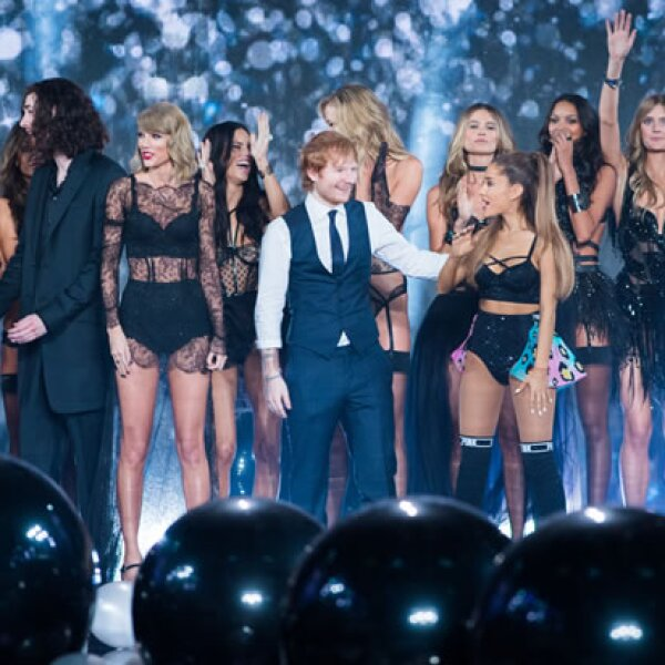 Hozier, Taylor Swift, Ed Sheeran y Ariana Grande.