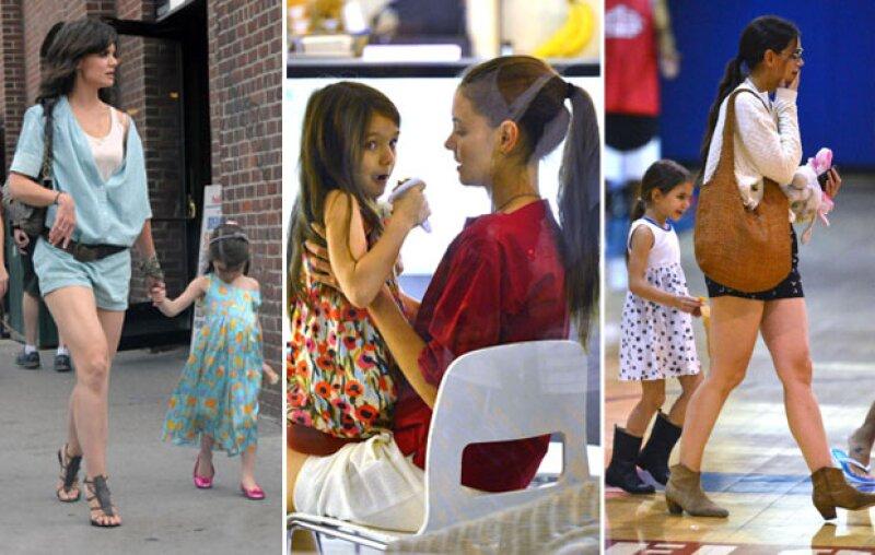 Katie ha sabido influenciar a su hija a la hora de vestir.