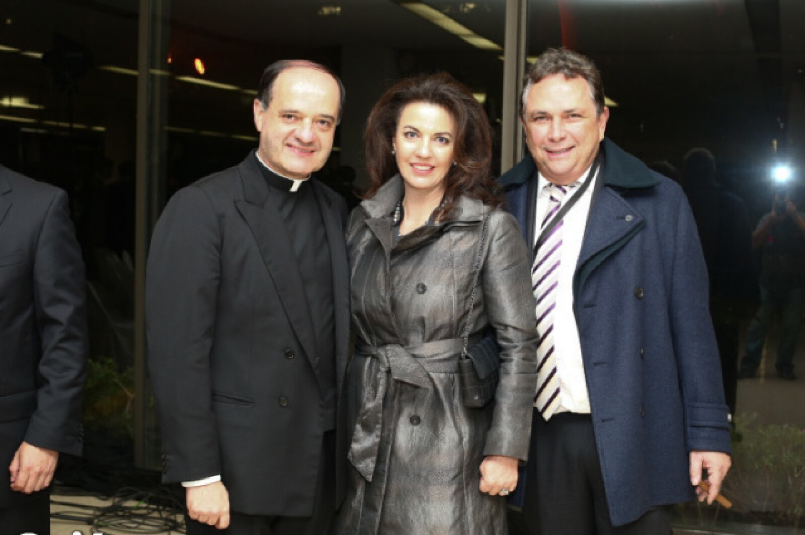 Padre Jesús Quirce, Teresa Cabal y  Carlos Cabal Peniche.