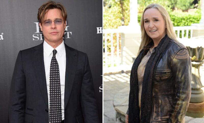 La artista sorprendió al decir que el esposo de Angelina Jolie pudo haber sido el padre de sus hijos pero ella lo rechazó.