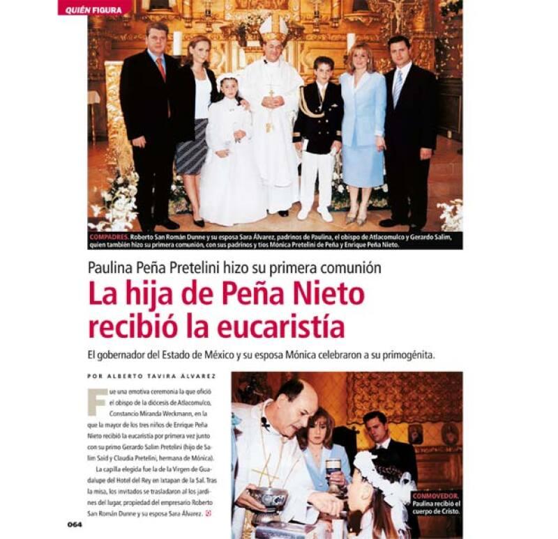 La Primera Comunión de Paulina Peña fue publicada en Quién ® en 2005.