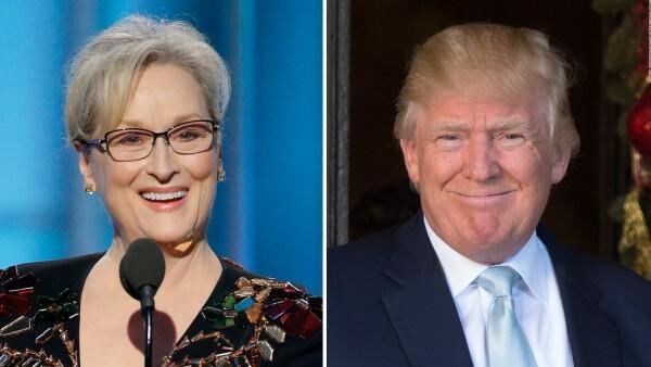 Trump le contesta a Meryl Streep tras sus criticas