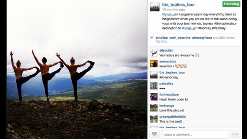instagram viajes topless