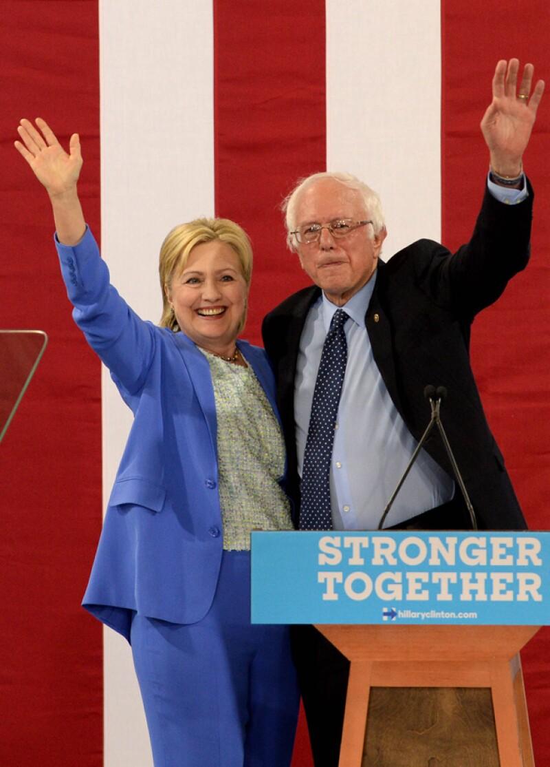 El senador dice que hará todo lo posible para que Hillary Clinton sea la presidenta de Estados Unidos.