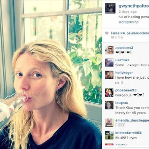 Gwyneth Paltrow también publicó una foto sin maquillaje