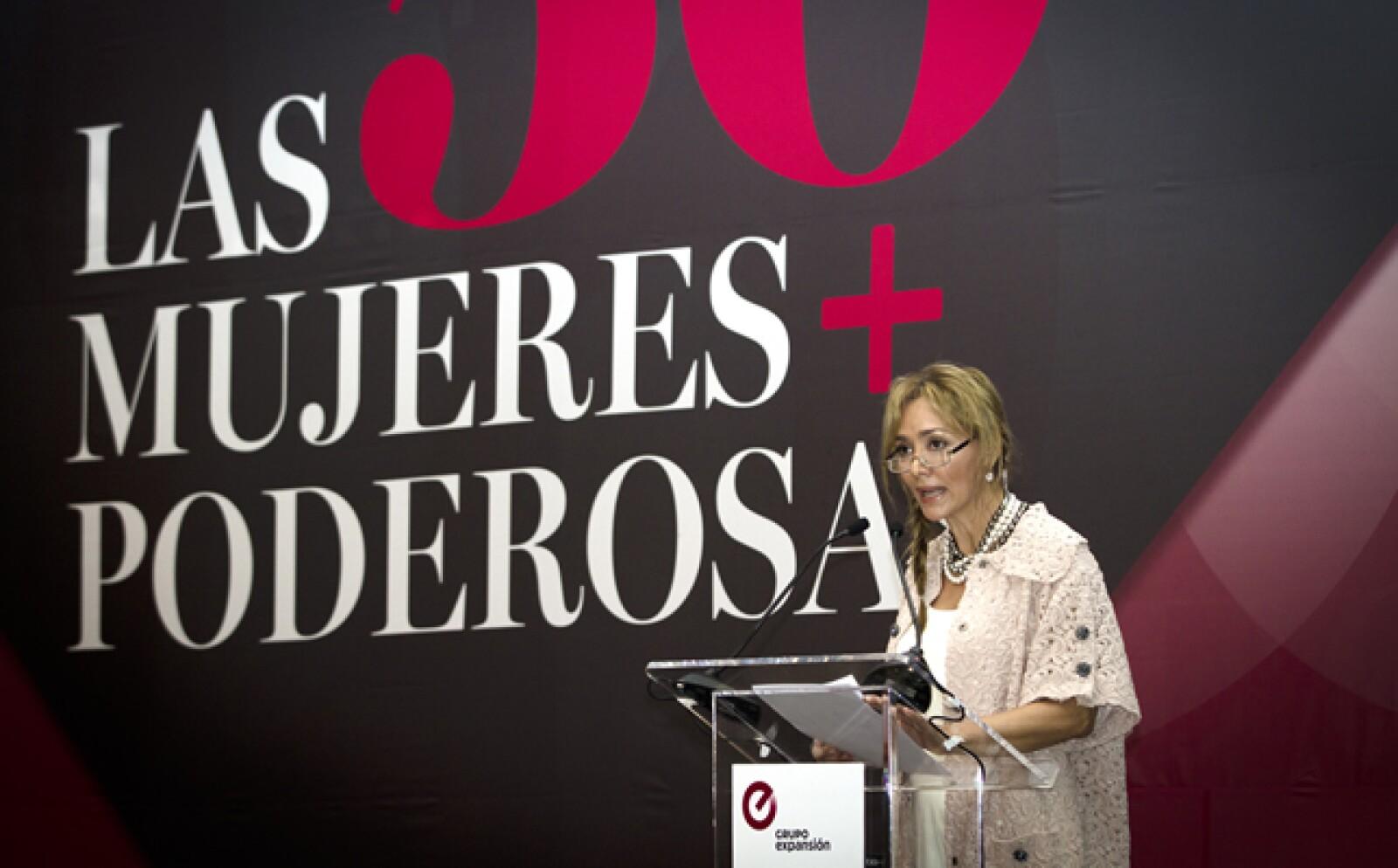 Angélica Fuentes, presidenta ejecutiva de Omnilife-Chivas y número 6 del ranking, presentó la iniciativa Closing México's Gender Gap, la cual encabaza junto con Carlos Danel, vicepresidente de Banco Compartamos.