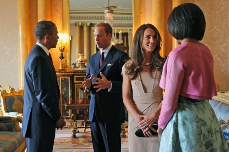 El presidente de Estados Unidos y su esposa Michelle le mandaron sus mejores deseos al príncipe Guillermo y a Kate Middleton.