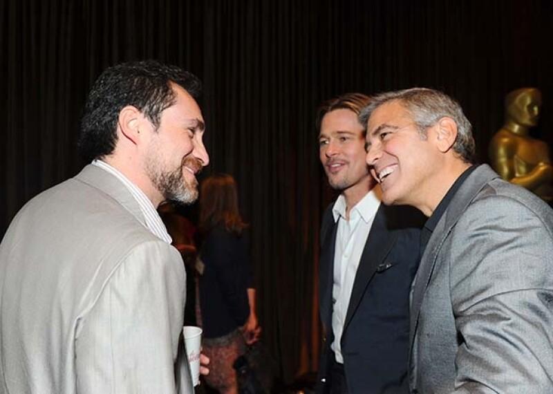 En el lunch previo a la ceremonia de los premios Oscar, Demian convivió con George Clooney y Brad Pitt quienes lo felicitaron por su gran trabajo.