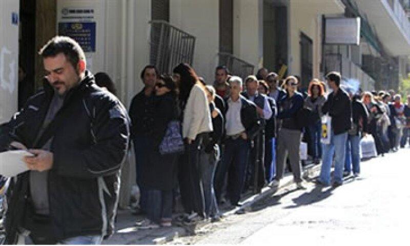 La tasa de desempleo de Grecia sólo es superada por la de España.  (Foto: AP)