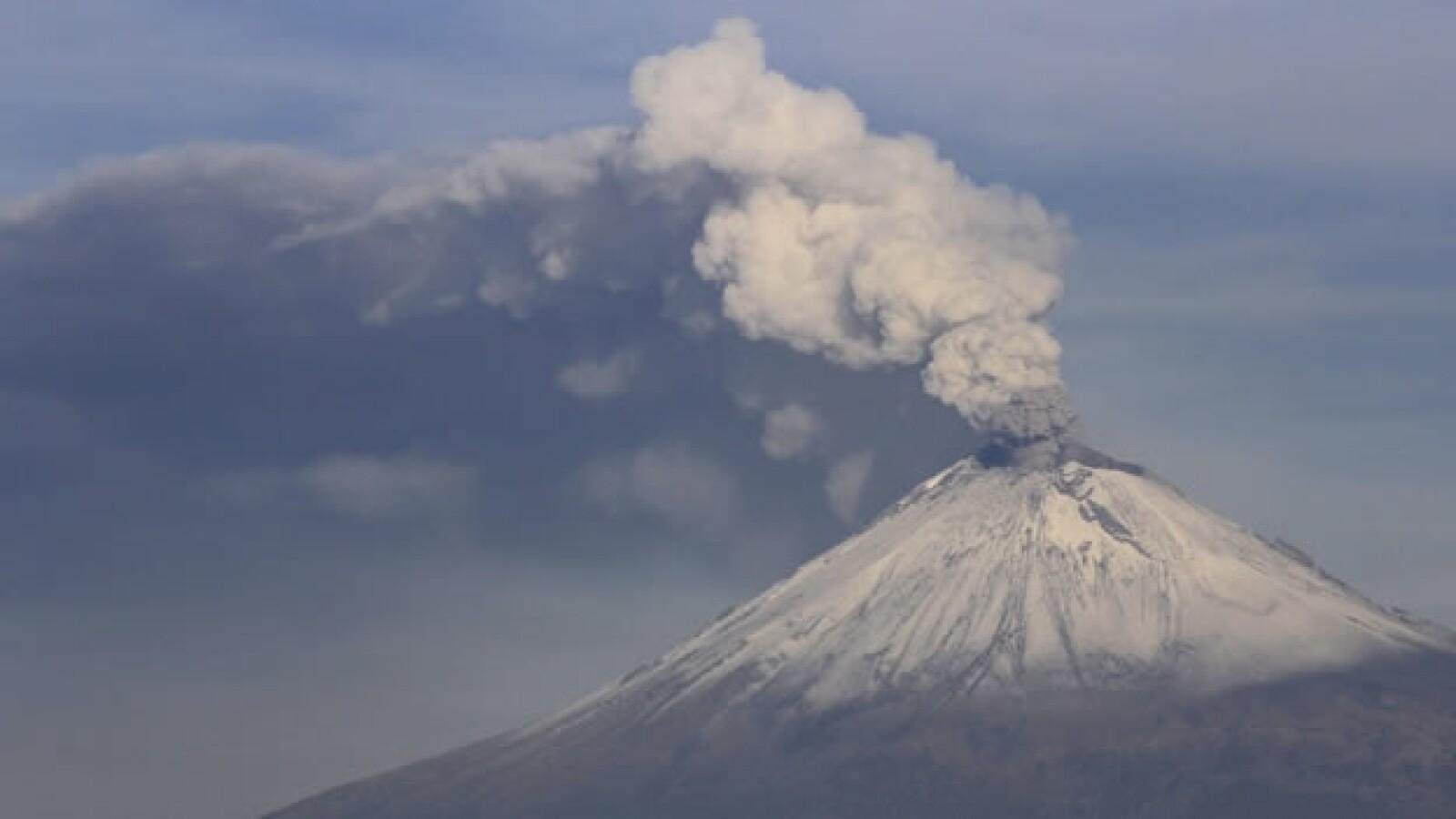 volcan popocatepetl visto desde puebla