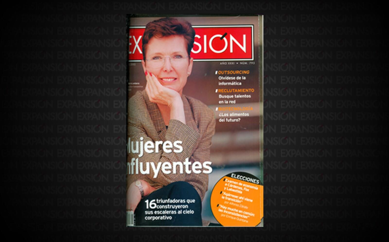 Martha Miller de Lombera, presidenta para México y Centroamérica de Procter&Gamble, estaba en el listado de 'Mujeres influyentes', integrado ese año por 16 ejecutivas.
