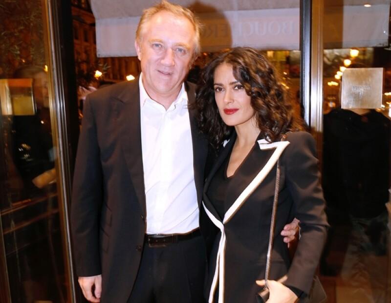 Salma Hayek y Francois Henri-Pinault
