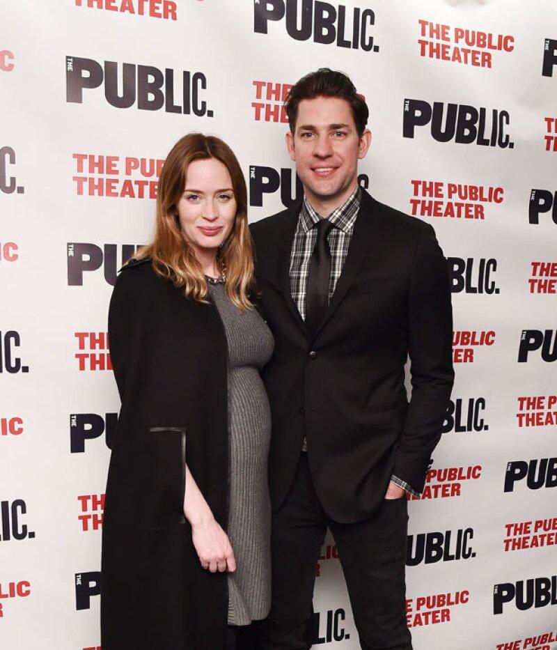 Emily Blunt va por su segundo bebé, fruto de su relación con John Krasinski.