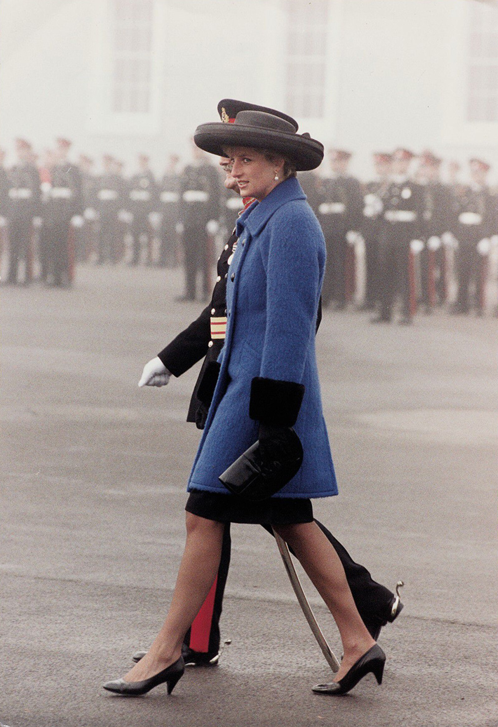 Diana Princess Of Wales Inspects The Sandhurst Graduates. Princess Diana Sent A Message Of Hope And Courage To Britain's Gulf Forces Yesterday. And She Remembered Thousands Of Families Who Will Be Without Loved Ones At Christmas Because Of The Call