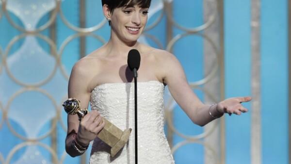 Anne Hathaway ganó como Mejor Actriz en un Musical.
