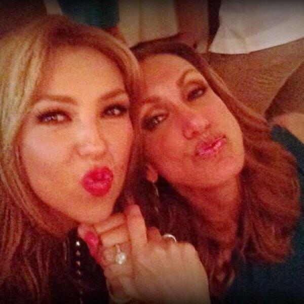 Su BFF Thalía no dejó de compartir fotos de esta fiesta, la cual se veía muy divertida, en sus redes sociales.
