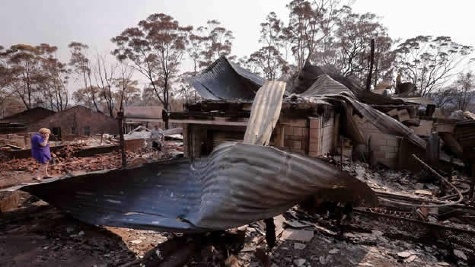 casa quemada en australia