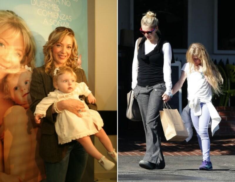 Izquierda: Edith y Constanza en 2008. Derecha: Madre e hija al día de hoy.