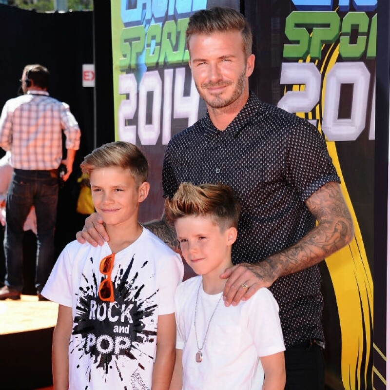Romeo y Cruz son la viva imagen de David Beckham.