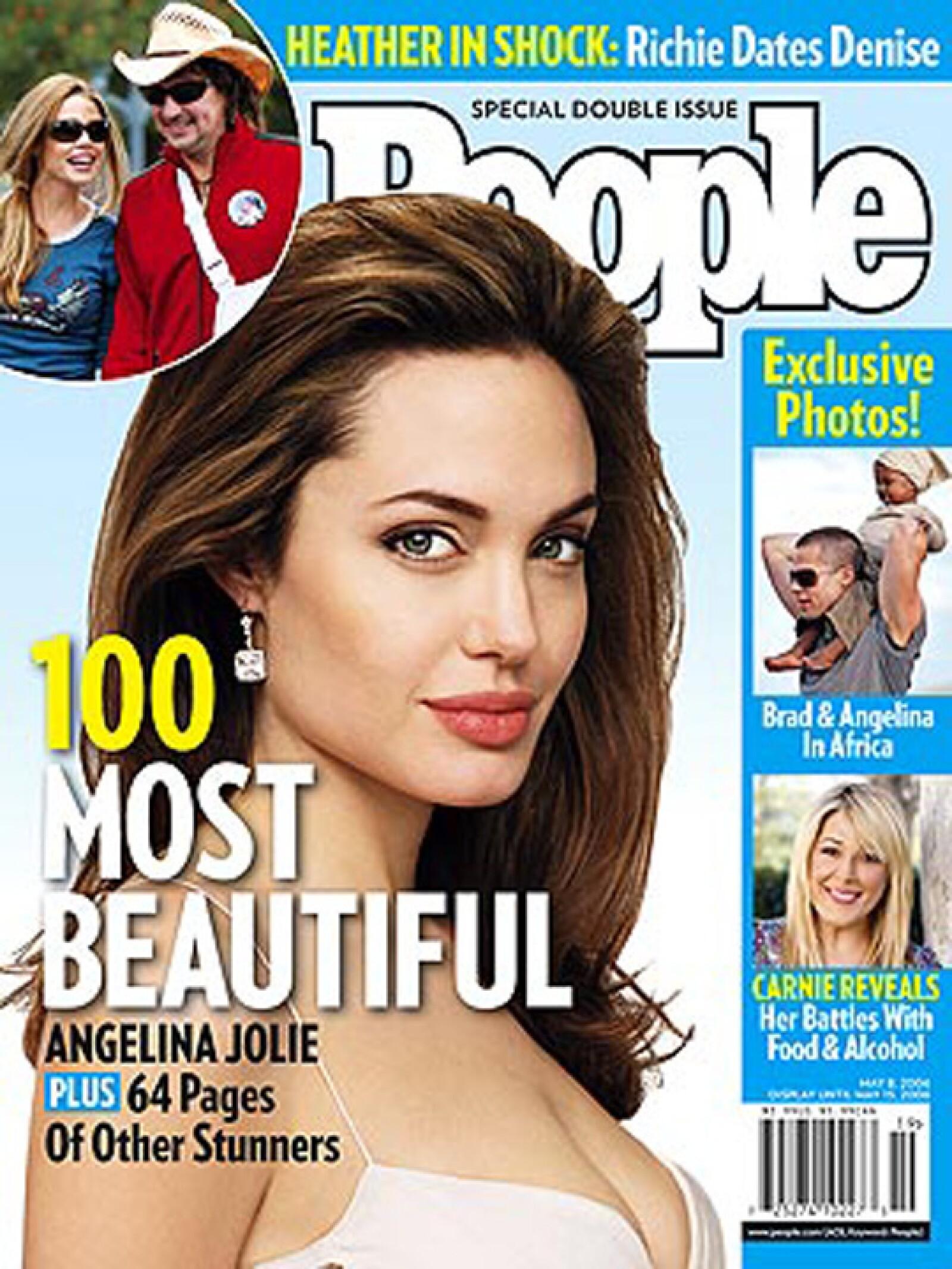 La sensualidad de Angelina Jolie fue popular en 2006.