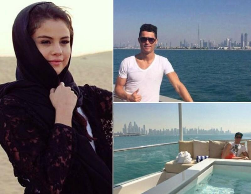 Cristiano Ronaldo y Selena Gomez en Dubai.
