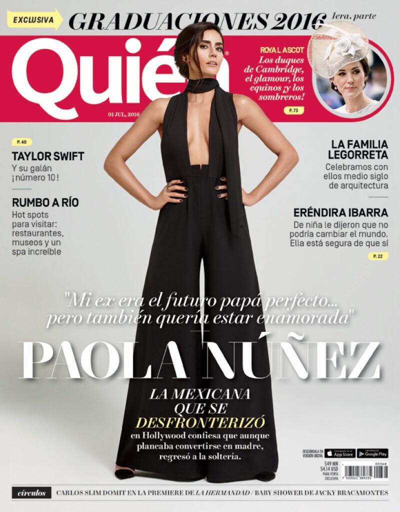 Paola Núñez es la nueva portada de la revista Quién.