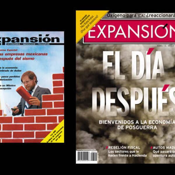 A la economía nacional y a la global les ha tocado reconstruirse varias veces en los últimos 40 años. A través de Expansión sus lectores han conocido sus detalles a través de ediciones como éstas, de 1985 y 2003.