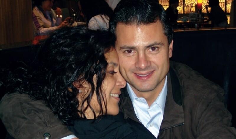 Rebeca y Enrique en un restaurante de la Ciudad de México.